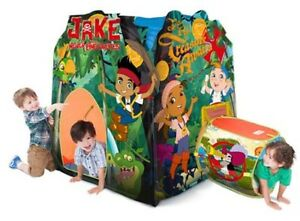 Image is loading 4ft-Disney-JAKE-and-the-Neverland-Pirates-MEGA-  sc 1 st  eBay & 4ft Disney JAKE and the Neverland Pirates MEGA TENT PLAYHUT Boy ...