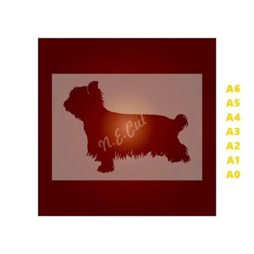 350 µ Mylar pas Hobby Stuff # chiens 103 Yorkshire Terrier Chien-POCHOIR