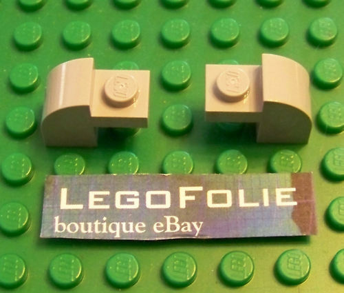 2 x  Lego 6091 Brick Modified  with Curved Top