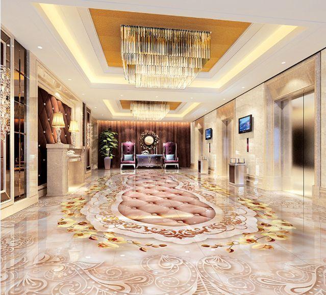 3D Treillis 5 Fond d'écran étage Peint en Autocollant Murale Plafond Chambre Art