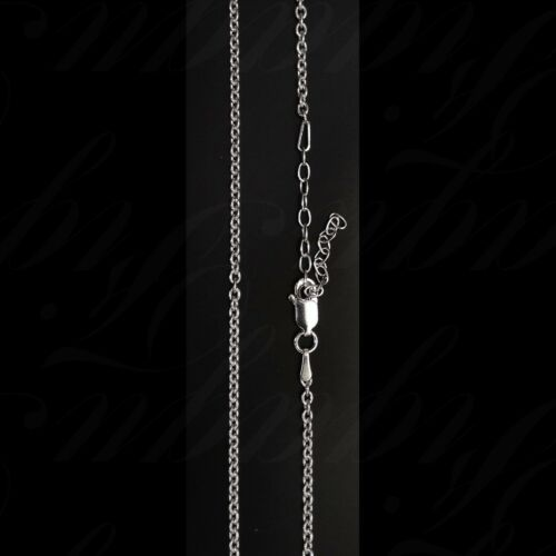 """ITALY 925 Sterling Silver OVAL ROLO Chain Necklace 16/""""~18/"""" Adjustable 2.2 mm"""