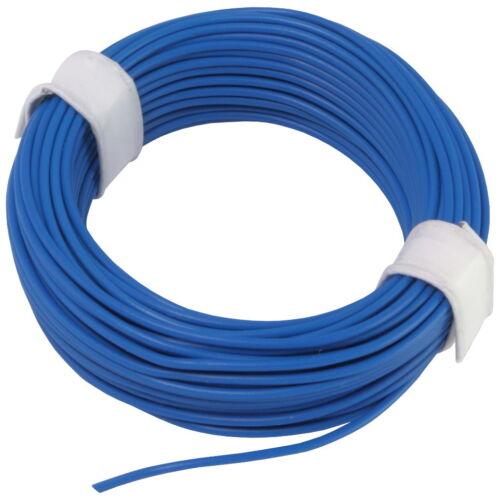 Ring 10m Kupferlitze 0,14mm² isoliert Kabel Litze Schaltlitze blau 857987