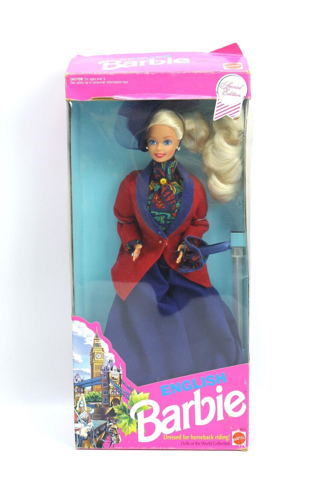 Muñecas del mundo inglés británico Equitación Muñeca Barbie Edición Especial 4973 1991