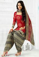 Elegant Crepe Printed Unstitched Dress Material Suit D.No GG221