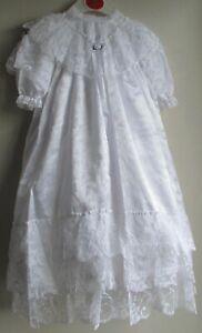 Adaptable Nouvelle Robe De Baptême-blanc By Designer Frillies Special Heirloom 0-6 M-afficher Le Titre D'origine Apparence éLéGante