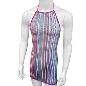 transparent mesh striped sissy lingerie dress  ebay