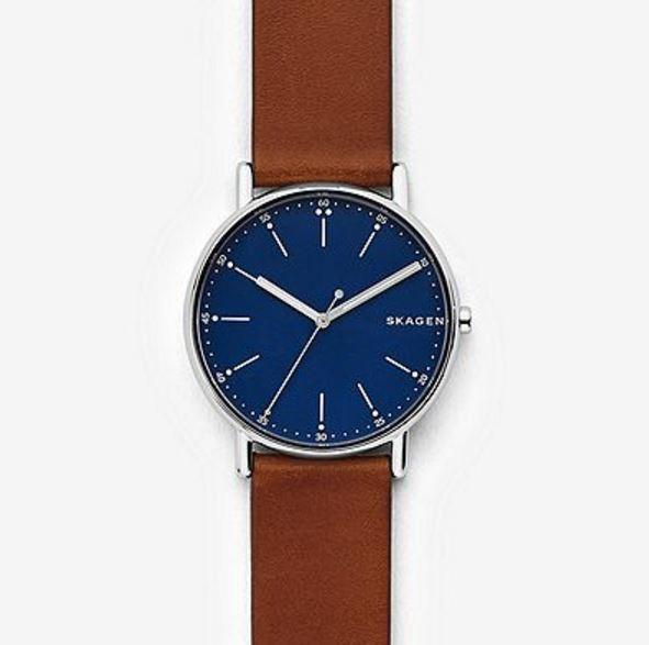 Skagen SKW6355 Brown Leather Gents Watch, 40mm Case, 5 ATM RRP $199
