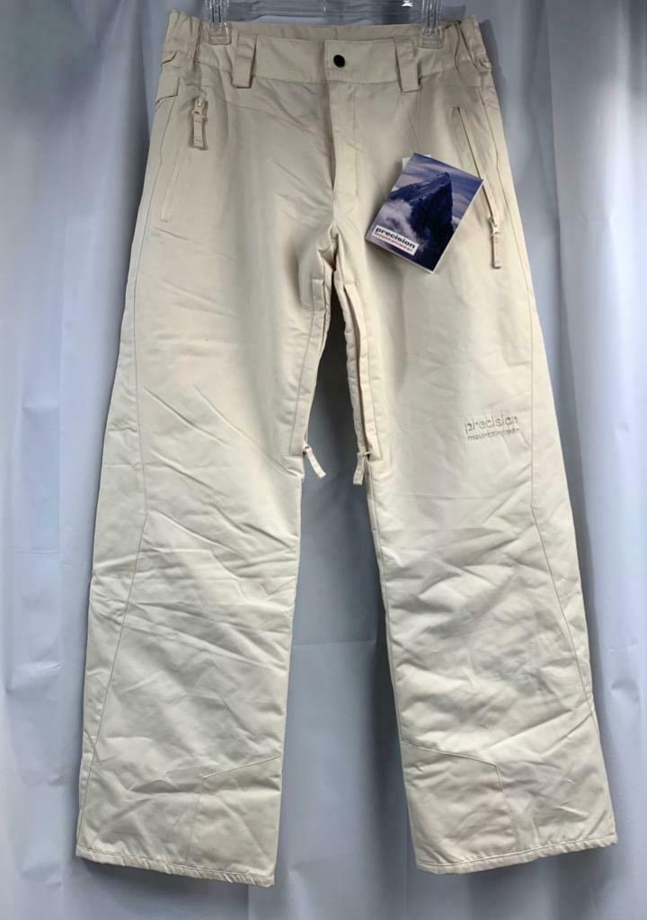 Precision Woman's Snow Ski Pants Size Medium Vanilla  NEW