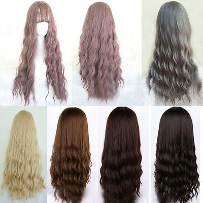 fashion lady corn wavy curly wig womens long synthetic hair wig cosplay party