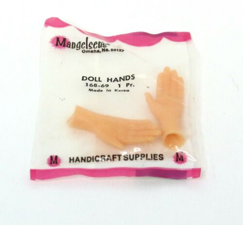 Vintage Mangelsen/'s Rubber Doll Hands DIY 168-69 1 Pair NIP