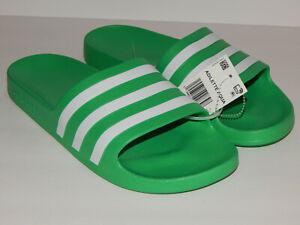 Adidas-Men-039-s-Adilette-Aqua-Slides-Sandal-Rare-Colorway-Green-White-FY8048