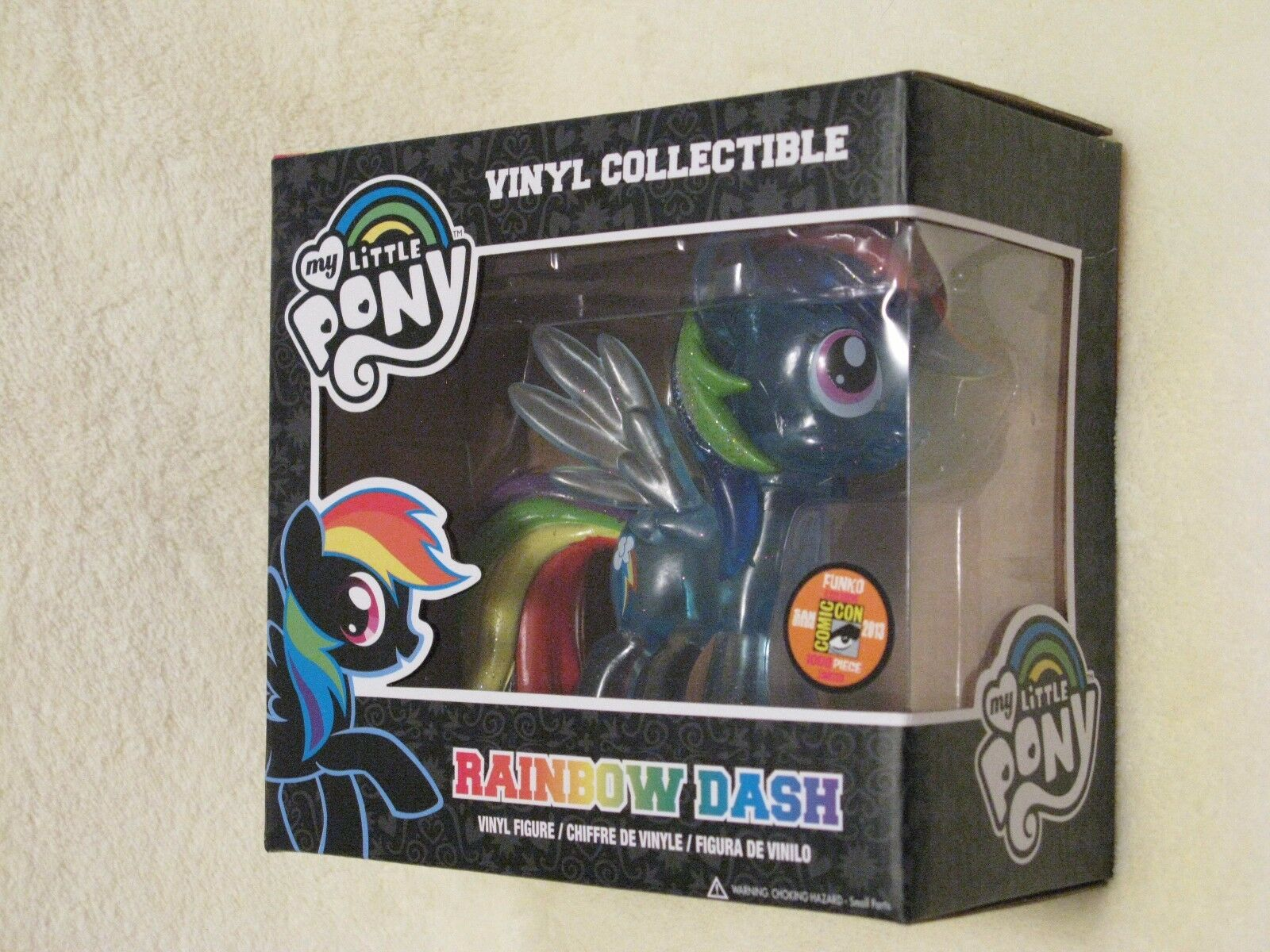 FUNKO My Little Pony FiM 'Rainbow Dash' Clear Glitter Ltd Ed Comic Con 2013