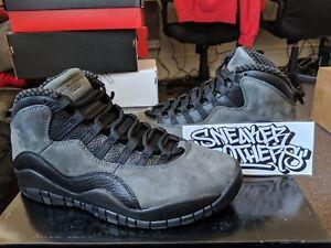 sports shoes 37bf9 1b877 Image is loading Nike-Air-Jordan-Retro-X-10-Dark-Shadow-