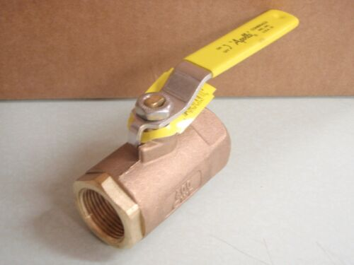 "BALL VALVE BRONZE 1/"" IPS PIPE 37 7010510 MARINE BOAT PLUMBING HARDWARE APOLLO"