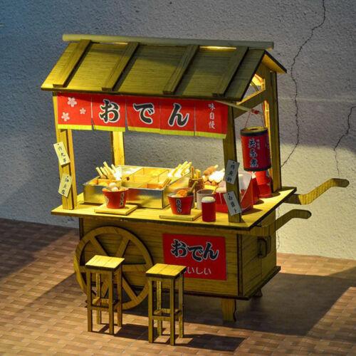Japanischen Stil DIY DollHouse Kit Handwerk Oden Stall Stand Modell Gebäude