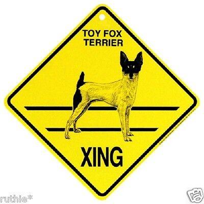Rat Terrier Dog Crossing Xing Sign New