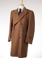 $4495 D'avenza Camel Tan Double-breasted Polo Coat 40 R (eu 50) Overcoat