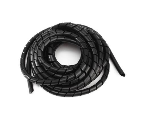 3 Mm 70,5 ft 21,5 M espiral cable wire Wrap Tubo Computadora administrar Cable Negro
