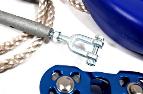 * Heavy Duty Comercial Linha Zip Kit Completo 30 Mtr Danforth Fio De Aço 8.0mm De Diâmetro