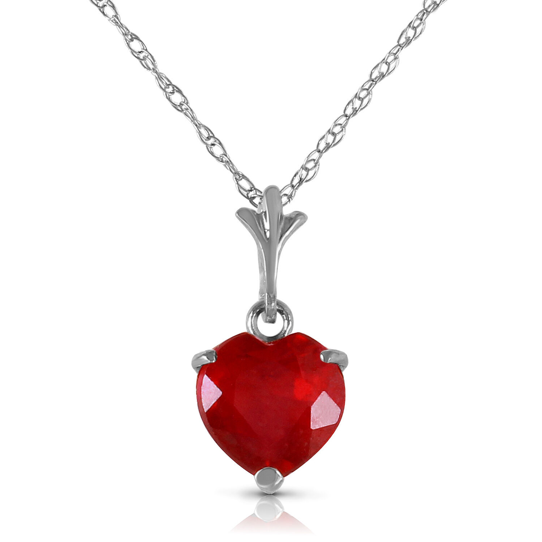 Yellow Genuine Blue Topaz Heart Gemstone Pendant Necklace 14K Rose Gold White