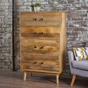 Halston Natural Finished Solid Mango Wood Chest Drawer eBay