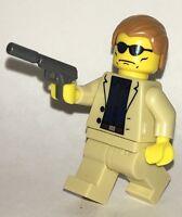 James Bond 007 Custom Fig Built Using Original Lego Parts Custom Gun Spy Tan
