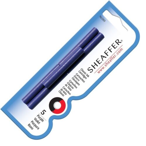 NEW Sheaffer Refills Purple 5 Pack Calligraphy /& Fountain Pen Cartridges