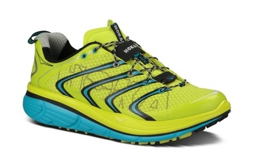 NEW hommes HOKA ONE ONE RAPA NUI 2 TRAIL RUNNING Chaussures - 9 - EUR 42 2/3 - YELLOW
