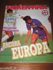LA FIORENTINA RIVISTA=1989/10-11=SOCHAUX ATLETICO DE MADRID COPPA UEFA=NAPPI=