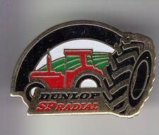 RARE PINS PIN'S .. AGRICULTURE TRACTEUR TRACTOR BTP PNEU TYRE DUNLOP RADIAL ~DC