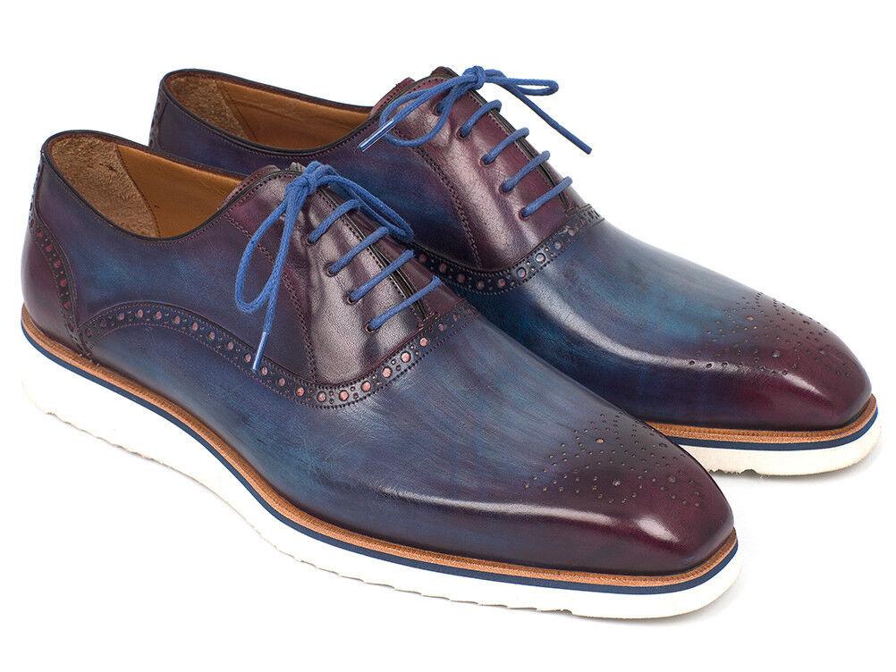 Paul Parkman Smart Casual Shoes Men For Men Shoes Blue & Purple (IDSNK-BLU) 3cf268