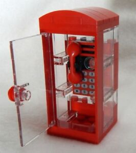 NEW-Lego-City-English-Style-Custom-Phone-Booth