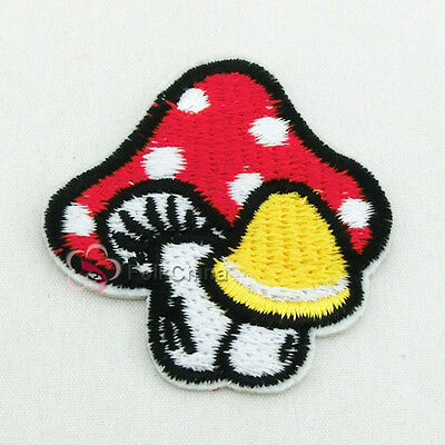 Fancy Mushroom Sew/Iron On Patches 40mm Trimming R0928
