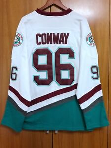 Mighty Ducks Movie Jersey  96 Charlie Conway Hockey Jersey Stitched ... 2af12cfba