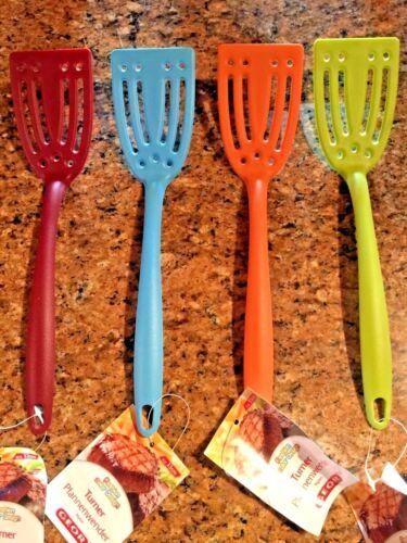 4 couleurs différentes Georvagin Nylon slottted Turner Cuisson Ustensiles de Cuisine 33 cm