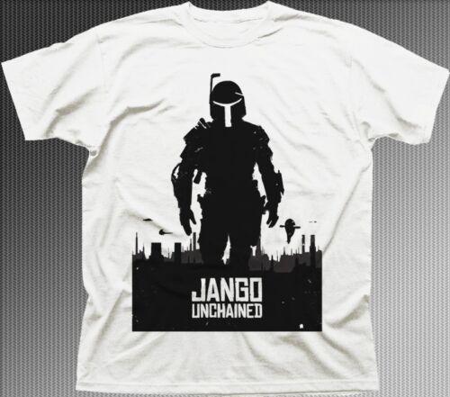 Boba UNCHAINED django Boba Fett Jedi Yoda T-shirt blanc 9584