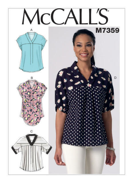 Mccalls M7359 Womens Blouse Sewing Pattern Top Shirt Pullover