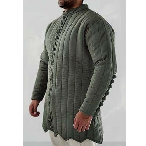 Medieval Thick Padded Camel Gambeson Movies Theater Custome Sca