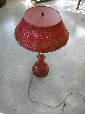 Vintage Tole Metal Table Lamp Shade