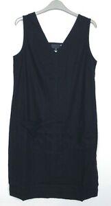 New-Next-Linen-Blend-Navy-V-neck-Summer-Holiday-Shift-Dress-Size-10-18