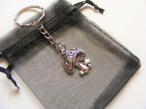 Mushroom-Toadstool-Keyring-With-Gift-Bag-Nice-Christmas-Birthday-Present