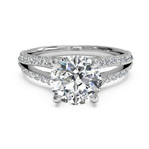 1.10 Ct Certified Moissanite Anniversary Ring 18K Solid White Gold ring Size 4 5