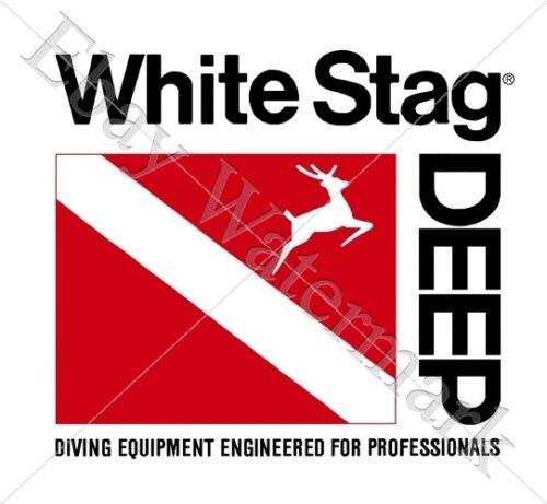 White Stag Deep decal sticker Aufkleber Diving scubaTauchen Plongée New