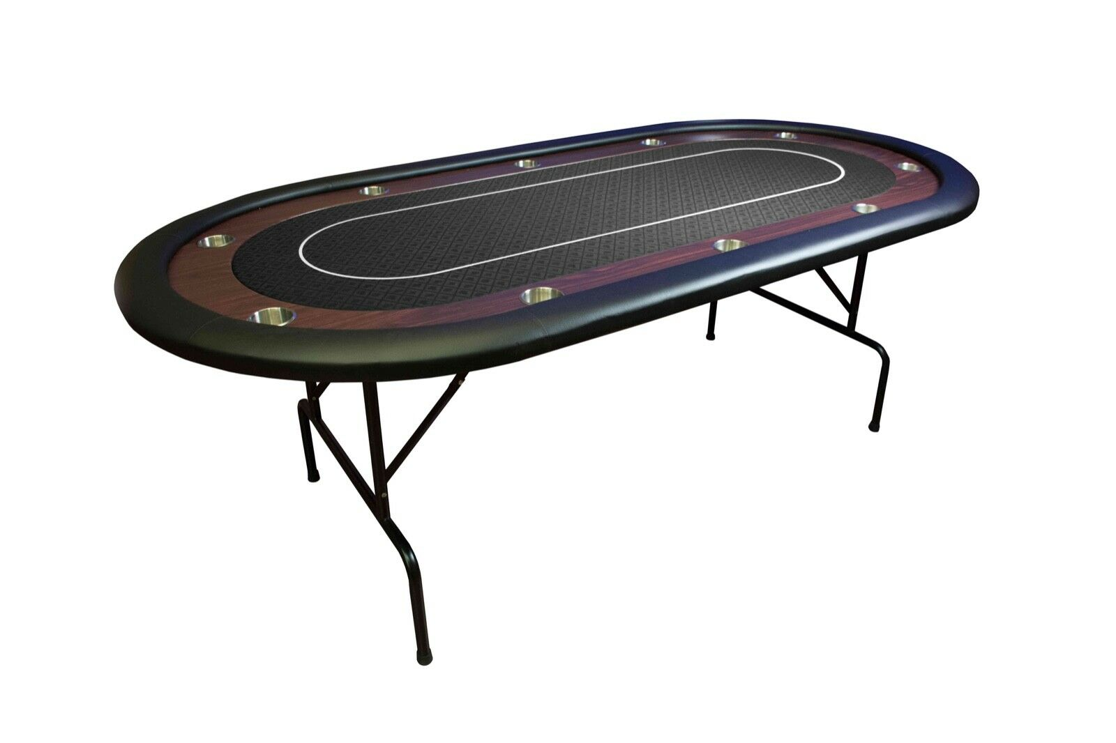 Mesa Tablero Poker Table 84″ Torneo Plegable Negro