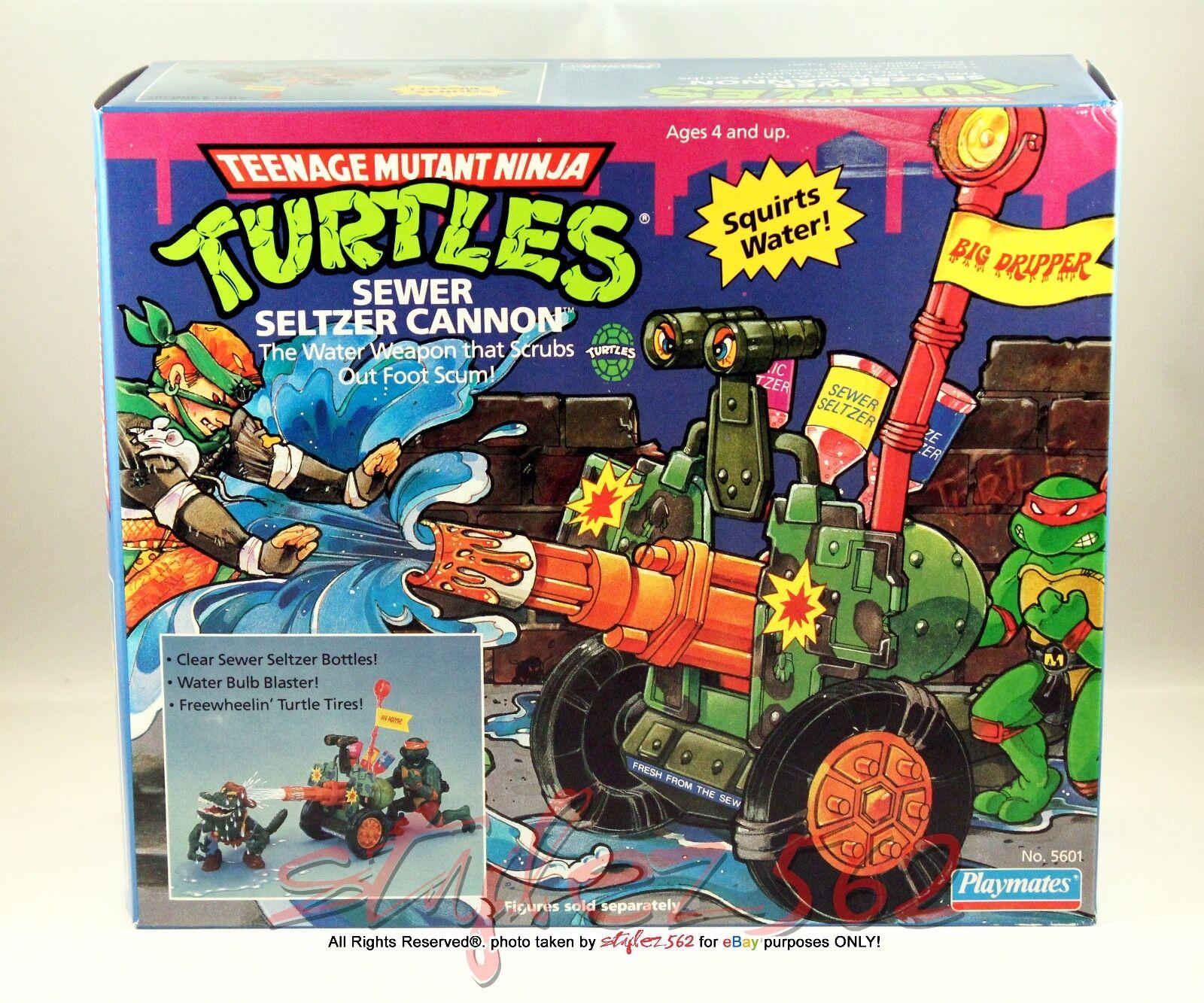 TMNT 1990 Sewer  Seltzer Cannon véhicule, Playmates En parfait état, dans sa boîte  RARE  NOUVEAU  centre commercial de la mode