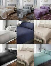 Roomee® Crushed Velvet Panel Duvet Cover with Pillow Case Bedding Set Gift Idea