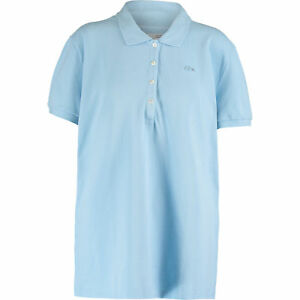 LACOSTE-Women-039-s-Light-Blue-Pique-Vintage-Washed-Polo-Shirt-Large-FR-44