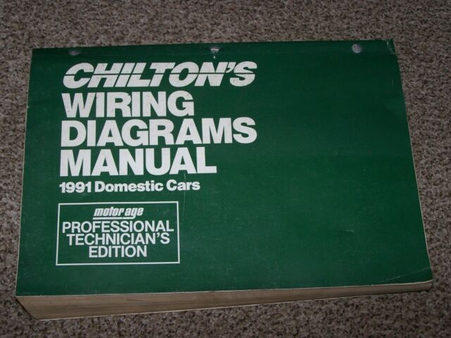 Chilton Wiring Diagrams Manual 1991 Domestic Cars Motor