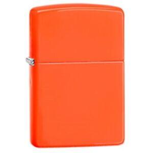 Zippo Windproof Neon Orange Lighter, 28888, New In Box