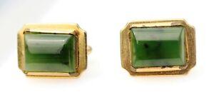 CUFFLINKS-MEN-039-s-vintage-jade-insert